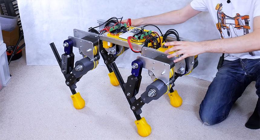 James Bruton desarrolla un nuevo chasis con nuevas patas para su robot Open Dog