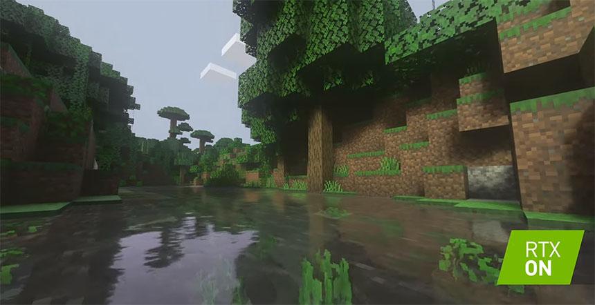 NVIDIA añade luces y sombras con Raytracing a Minecraft y es espectacular