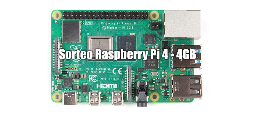 Consigue una Raspberry Pi 4 Model B de 4GB GRATIS