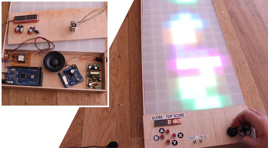 Cómo construir un juego TETRIS gigante con LED y sonidos