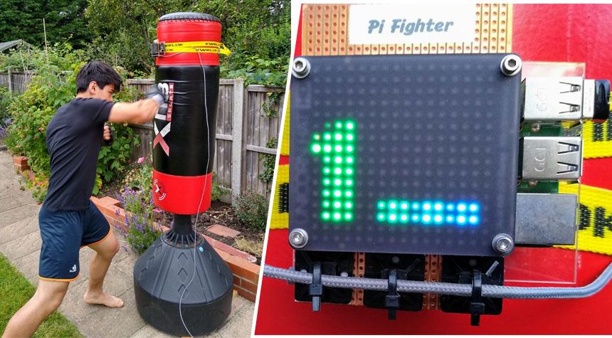 Pi Fighter: El saco de boxeo digital interactivo con Raspberry Pi