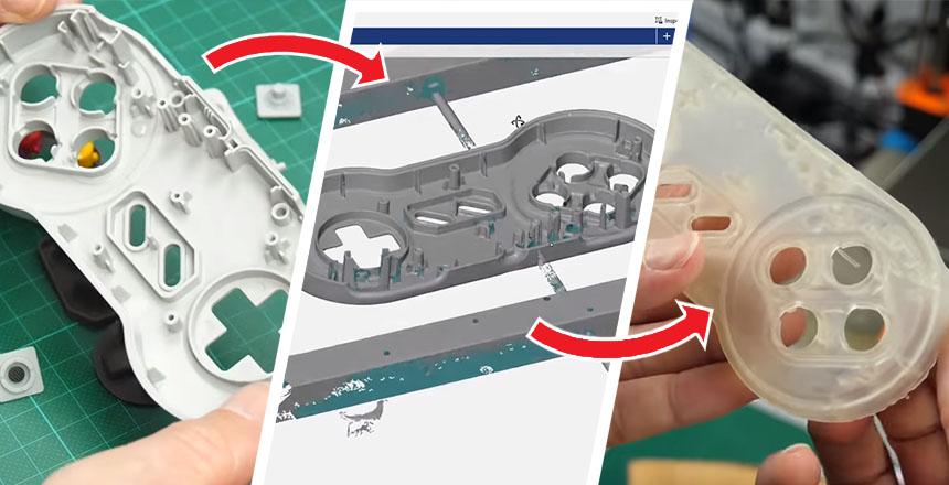 Cómo imprimir con resina piezas escaneadas en 3D para replicarlas
