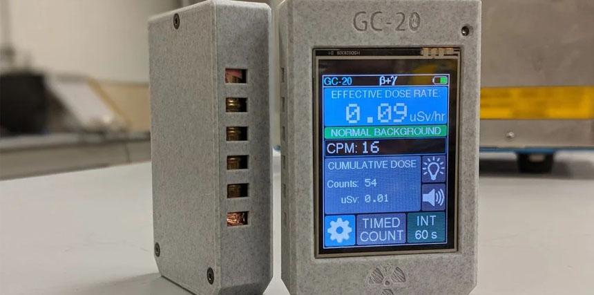 Contador Geiger casero con pantalla táctil y Wifi