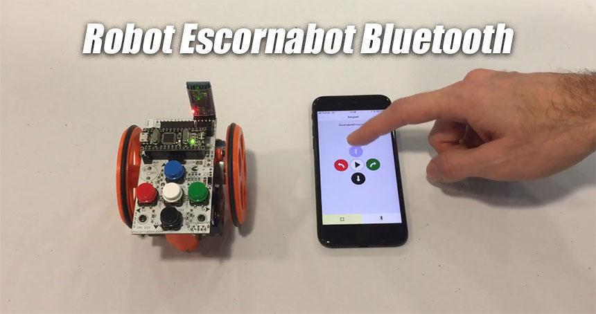 Cómo controlar tu robot Escornabot por bluetooth desde el móvil