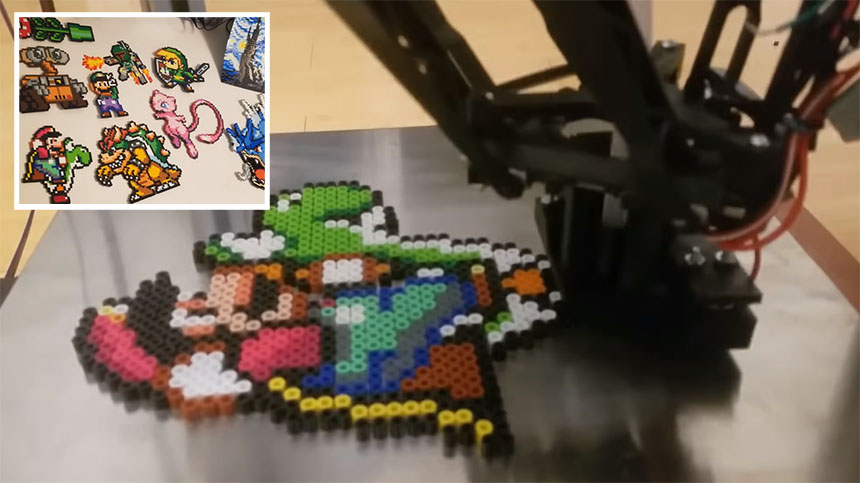 Máquina para imprimir figuras Pixel Art automáticamente