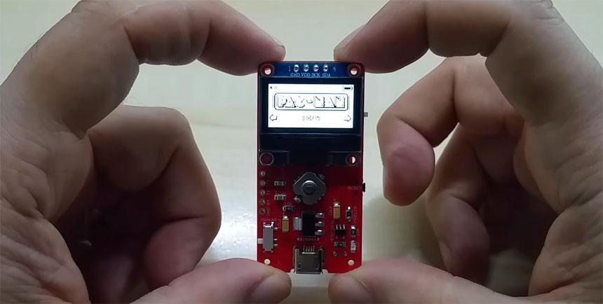 PCB Juego Pacman casero que cabe en la palma de tu mano