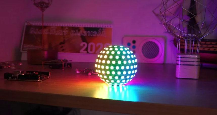 Cómo hacer una esfera de LED WS2812 y ESP32