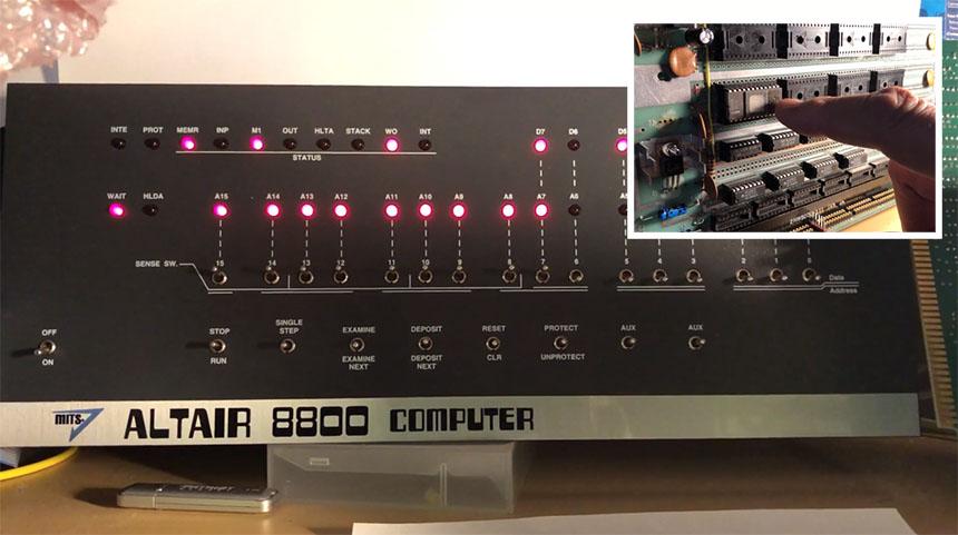 Construyendo un Altair 8800 pieza por pieza