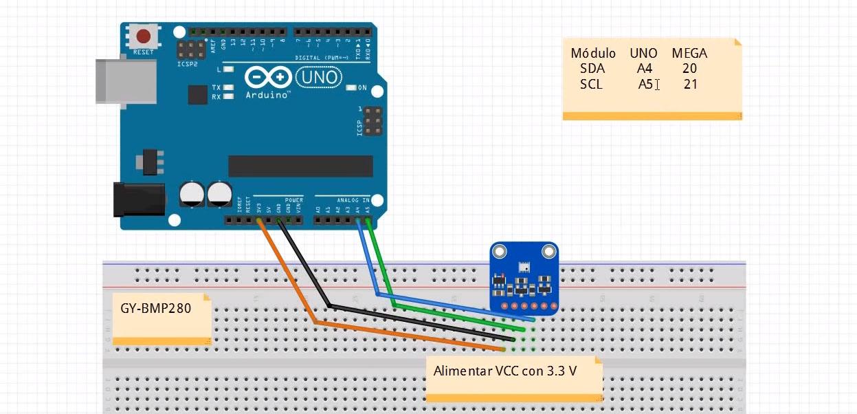 Cómo conectar un sensor de temperatura y humedad BME208 con Arduino