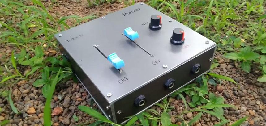 Mezclador de audio de 3 canales ultra casero