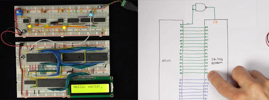 Cómo construir un ordenador 6502 de 8-bits desde cero