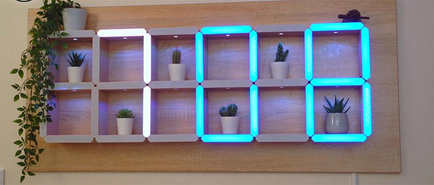 Reloj mural LED decorativo basado en Arduino