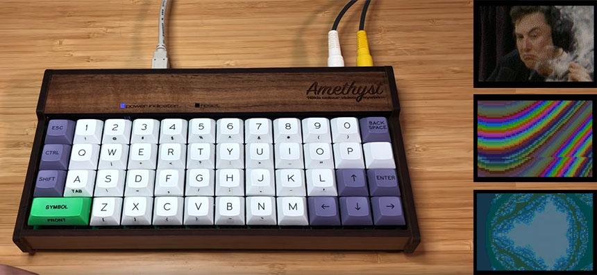 Amethyst: Ordenador Retro con salida de vídeo a color basado en ATMega1284