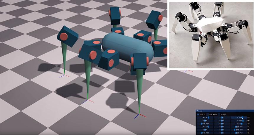Diseñando un robot hexápodo desde cero con cinemática inversa