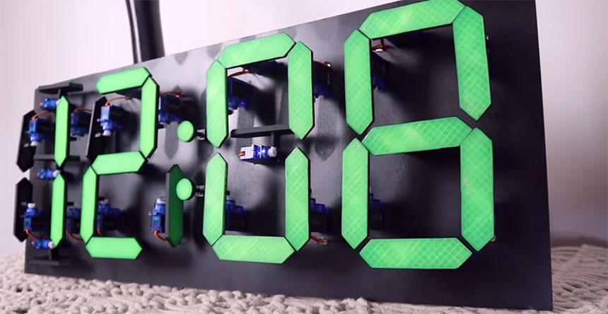 Como construir un reloj de pared mecánico-digital con Arduino