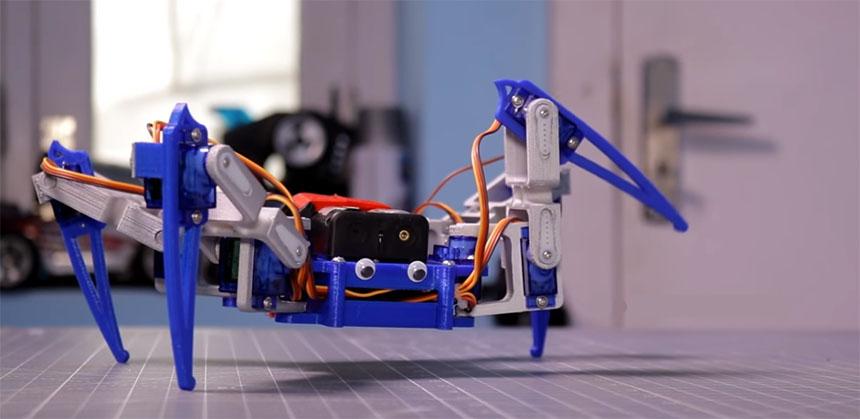 Cómo hacer un sencillo robot araña con Arduino