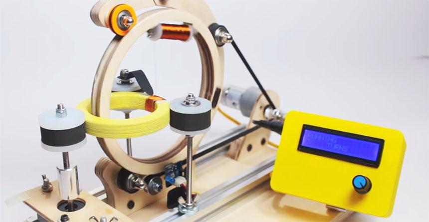 Cómo construir una máquina bobinadora de hilo de cobre con Arduino