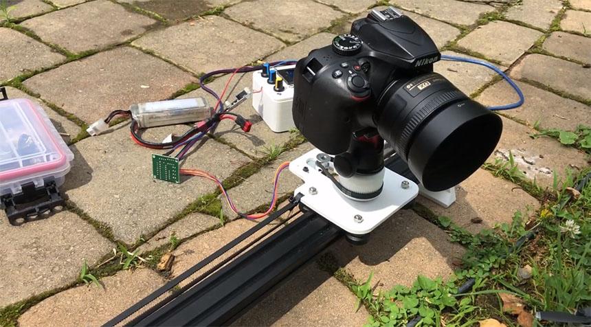 Slider de 2 ejes para cámara DSLR controlado con Arduino