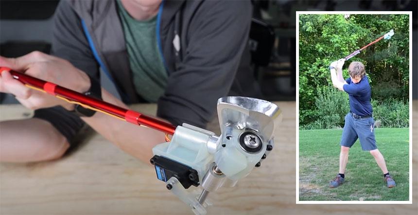 Construyendo un palo de Golf electrónico con ajuste de ángulo automático
