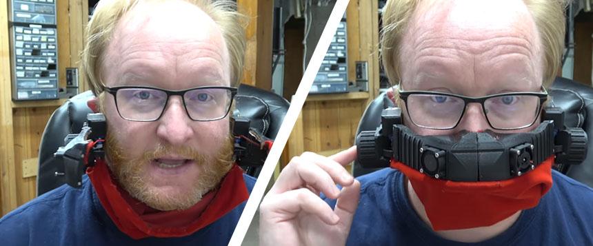 Ben Heck desarrolla una mascarilla automática que abre y cierra sola