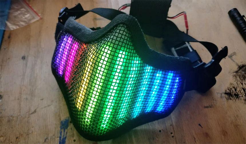 Mascarilla protectora con LED neopixel