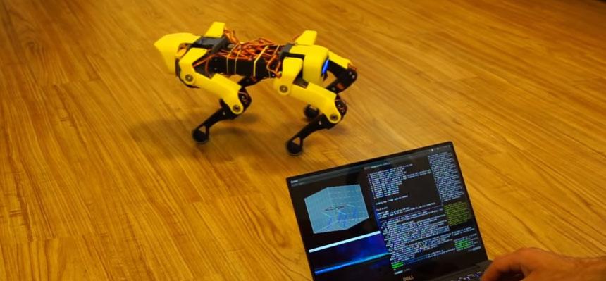Robot Spot Mini casero con servos controlado con Raspberry PI