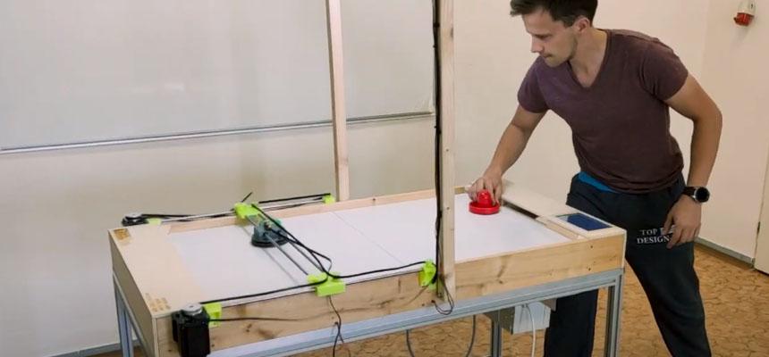 Mesa Air Hockey robotizada con Raspberry Pi y Arduino