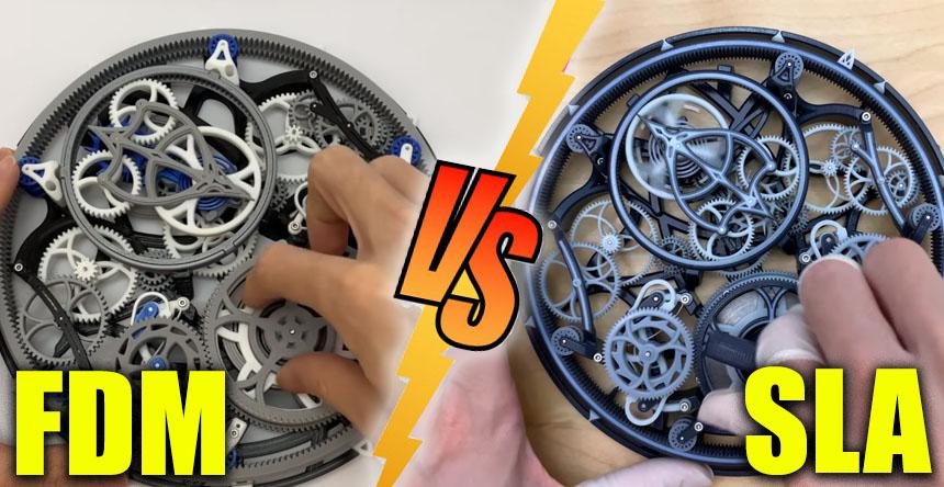 Reloj impreso en 3D: Uno en impresión FDM y otro en Resina (SLA) ¿Cual es mejor?