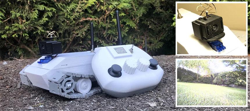 Robot Rover con FPV para explorar tu jardín a distancia