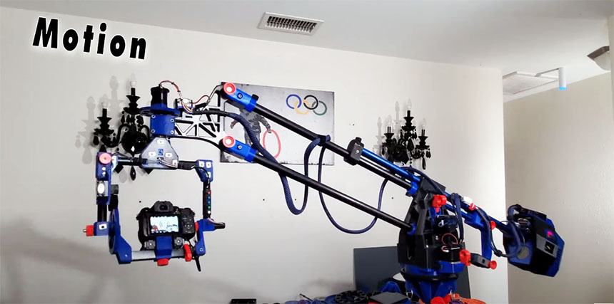 Enorme Grua Dolly casera impresa en 3D