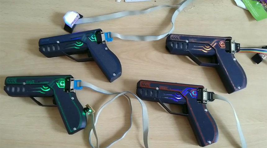 Sistema Laser TAG casero con ESP32 y controlado por MQTT