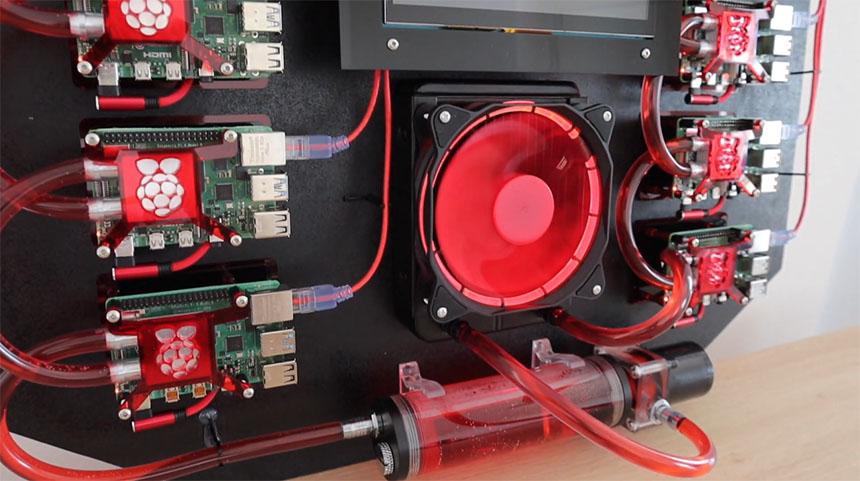Montar un CLUSTER con RASPBERRY PI 4 con refrigeración liquida