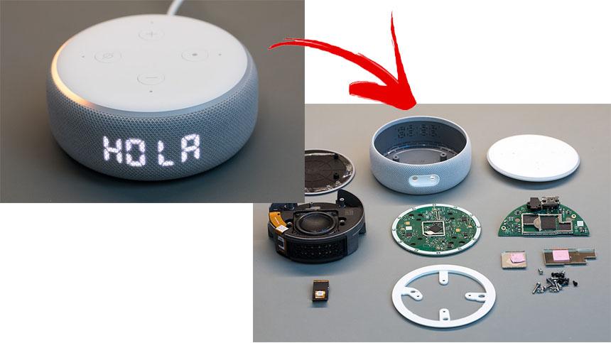 Cómo es por dentro del nuevo Amazon Echo Dot