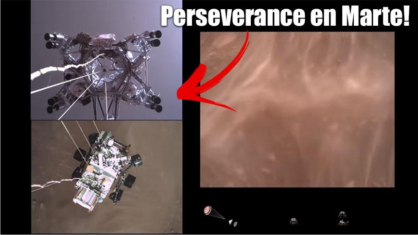 Vídeo del descenso del robot Rover Perseverance en Marte de la NASA
