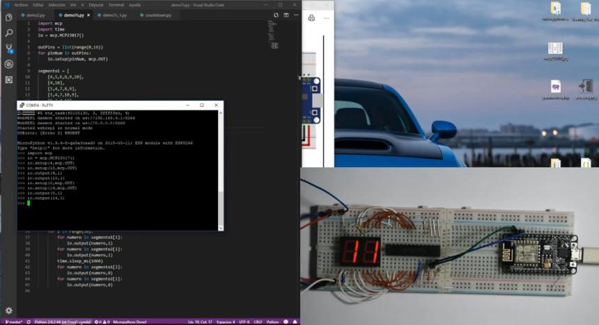 Display de 7 segmentos con ESP8266 y Micropython