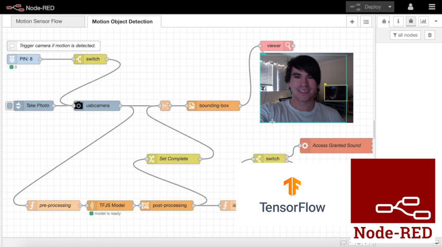 Instalación y uso de TensorFlow con Node-Red para Machine Learning
