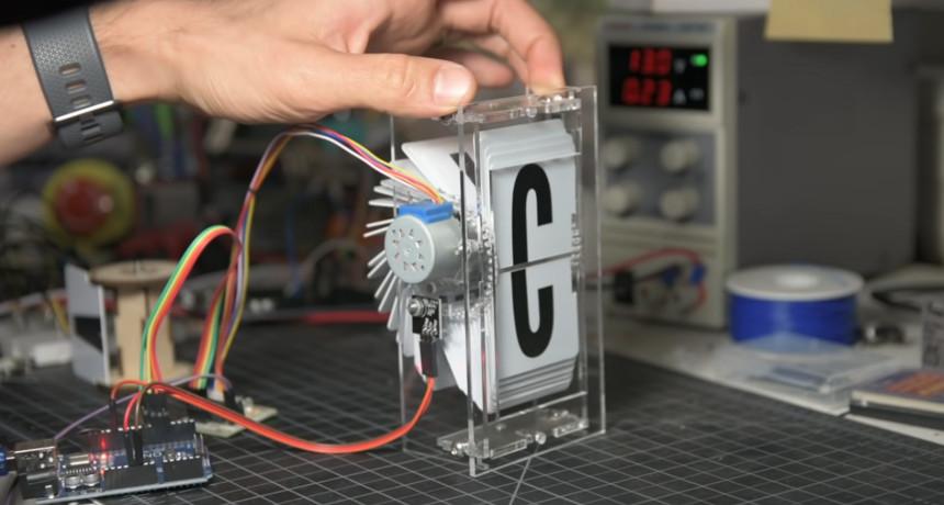 Display tipo Split-Flap con Arduino y motor paso a paso