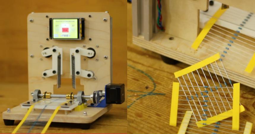 Máquina automática para cortar tiras de resistencias con Arduino