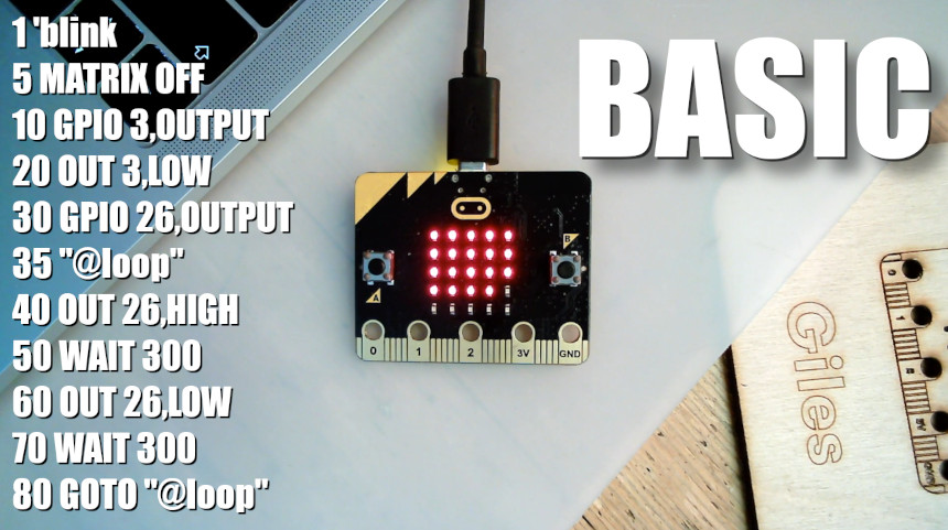 Cómo programar en BASIC con BBC Micro:Bit