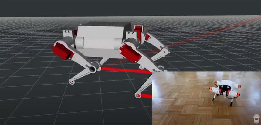 Robot cuadrúpedo Pavlov Mini