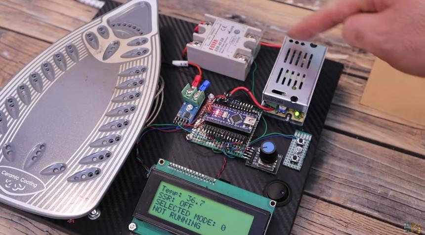 Reflow casero con una plancha eléctrica y Arduino