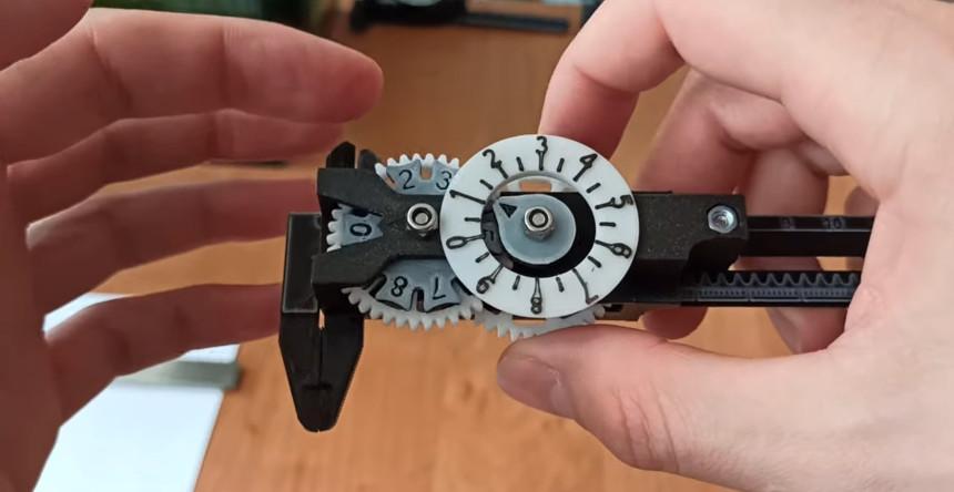 Un calibre digital muy preciso impreso en 3D