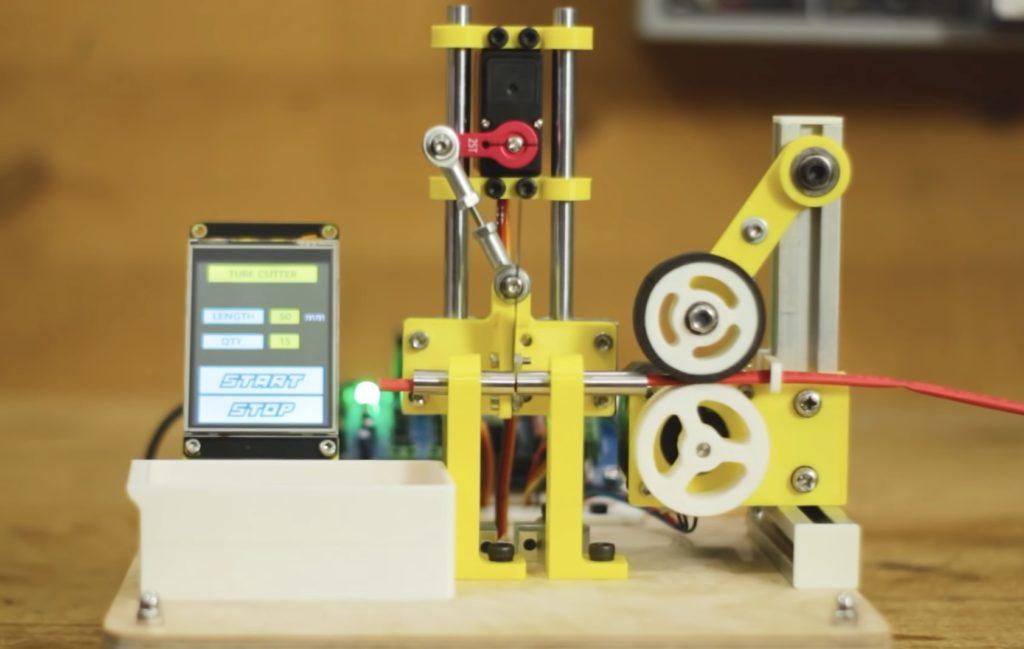 Máquina automática para cortar tubo termorretráctil con Arduino