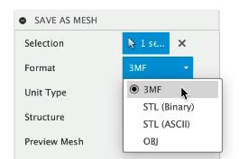 Fusion 360 Export Mesh