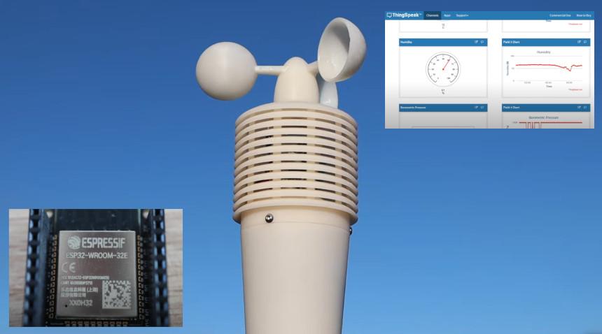 Estación meteorológica con ESP32 conectado con Thingspeak