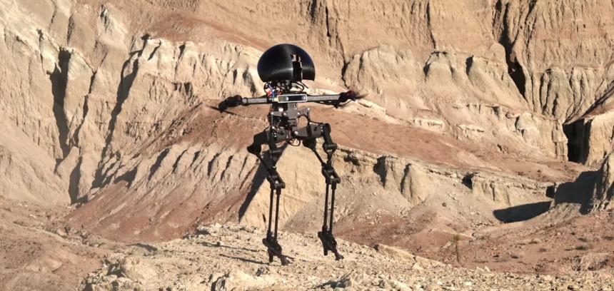 Éste robot bípedo llamado LEONARDO también puede volar