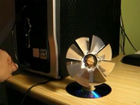 (Video DIY) Ventilador USB casero con un CD-ROM
