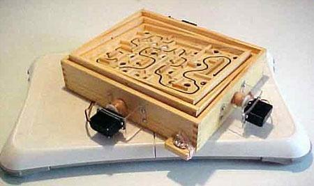 Juego del laberinto controlado con Wii-Fit y Arduino