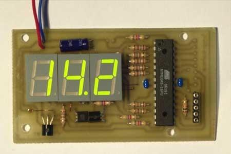 Voltímetro digital con Atmega8