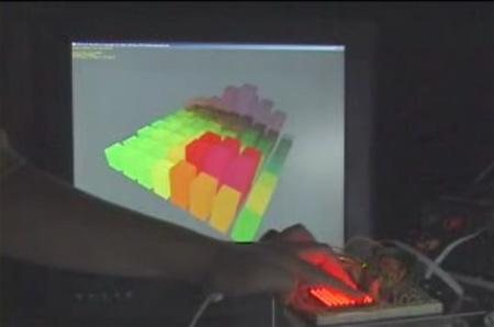 (Video) Teclado táctil multipunto con matriz de LED